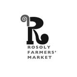 <h5>Rosoly Farmers' Market. Black & white logo</h5>