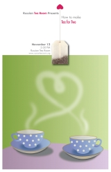 <h5>Tea for Two poster. Vector graphic</h5>
